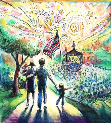 4th Of July Parade Cartoon The Sandoval Signpost News For
